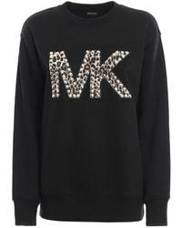 Michael Kors Sweatshirt With Decorative Logo - Black
