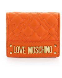 Love Moschino LEDER BRIEFTASCHEN - Orange