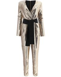 P.A.R.O.S.H. Gold Polyester Jumpsuit - Metallic