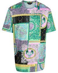 Versace T-Shirt mit Strass - Grün