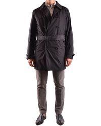 Allegri Polyester Trench Coat - Black