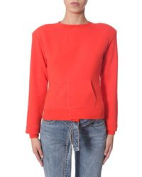 Unravel Project Cotton Sweatshirt - Red