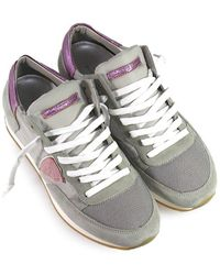 Philippe Model Grey Suede Trainers - Gray