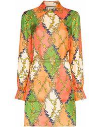 Gucci Minikleid mit GG-Print - Orange