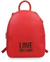 Love Moschino LEDER RUCKSACK - Rot