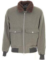 Brunello Cucinelli Wool Outerwear Jacket - Green