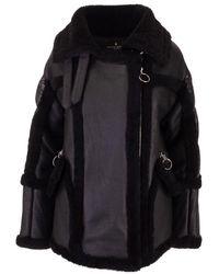 Nicole Benisti Black Leather Coat