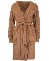 Max Mara Brown Wool Cardigan