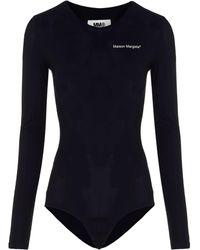 Maison Margiela S32na0046s20518900 Polyamide Bodysuit - Black