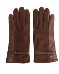 Trussardi Brown Leather Gloves