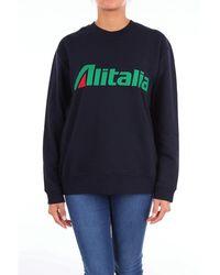Alberta Ferretti - Blue Cotton Sweatshirt - Lyst