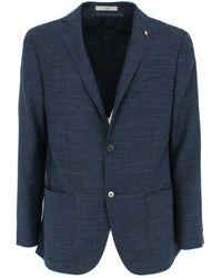 Corneliani Cotton Blazer - Blue