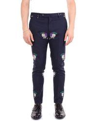 PT01 Blue Cotton Pants