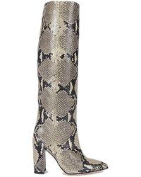 Paris Texas Multicolour Leather Boots - Gray