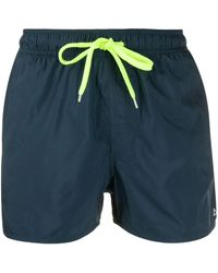 Sun 68 Plain Swim Shorts - Blue