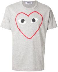 Comme des Garçons P1t266 Cotton T-shirt - Gray