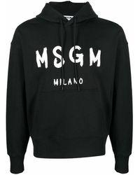 MSGM Cotton Sweatshirt - Black