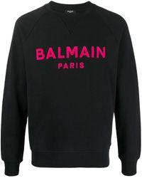 Balmain Cotton Sweatshirt - Black
