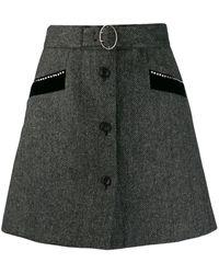 Miu Miu - Chevron Shetland Skirt - Lyst