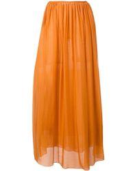 Forte Forte Pleated Front Skirt - Orange