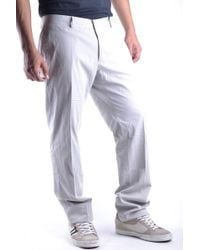 Mauro Grifoni - Grey Cotton Pants - Lyst