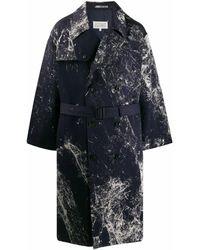 Maison Margiela Cotton Trench Coat - Blue