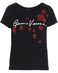 Versace Women's A87466a228806a3264 Multicolour Cotton T-shirt - Black