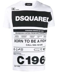 DSquared² WEISSE BAUMWOLLE SWEATSHIRT - Weiß