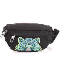 KENZO Black Polyester Belt Bag