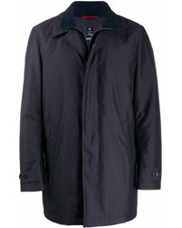 Fay Cotton Trench Coat - Blue