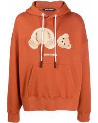 Palm Angels Hoodie mit Teddy-Motiv - Orange