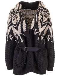 Brunello Cucinelli Wool Cardigan - Black