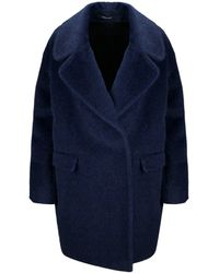 Tagliatore Blue Wool Coat