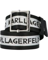 Karl Lagerfeld Logo Belt - Black