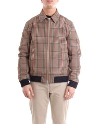 Mauro Grifoni - Beige Synthetic Fibres Outerwear Jacket - Lyst