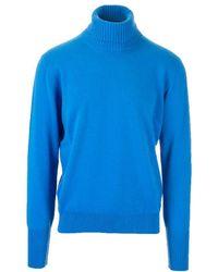 Ballantyne Blue Cashmere Jumper