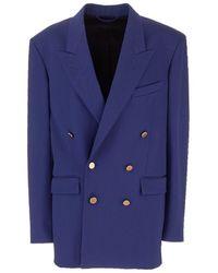 Balenciaga Wool Blazer - Blue