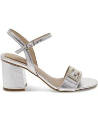 Guess Leather Sandals - Metallic