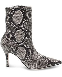 Roberto Festa Leather Ankle Boots - Grey