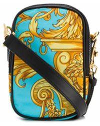 Versace GOLD POLYAMID MESSENGER BAG - Mettallic