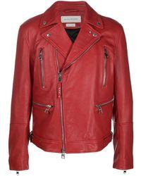Alexander McQueen Klassische Bikerjacke - Rot