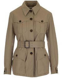 Chloé ANDERE MATERIALIEN TRENCH COAT - Braun