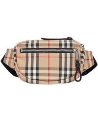 Burberry Beige Cotton Belt Bag - Natural