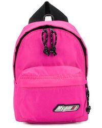 MSGM Logo Plaque Backpack - Pink