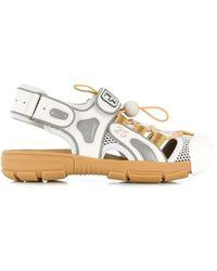 Gucci Tinsel Sandal Sneakers - White