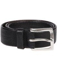 Orciani U07891 Leather Belt - Black
