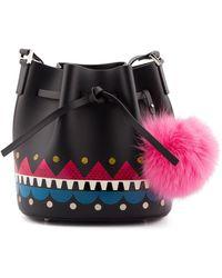 Les Petits Joueurs - Black Leather Shoulder Bag - Lyst