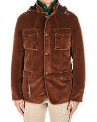 Eleventy Brown Cotton Outerwear Jacket