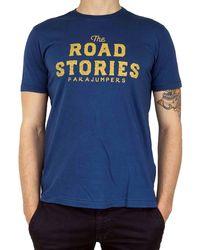 Parajumpers Blue Cotton T-shirt