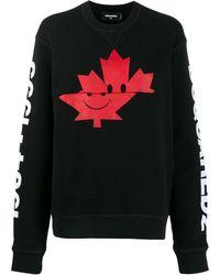 DSquared² - Black Cotton Sweatshirt - Lyst